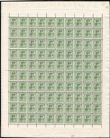 1925 G.D. Charlotte: 20c, Vert-jaune, Feuille Entière à100, Sans Charnière: Michel:162 (2scans) - Full Sheets