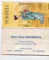(Parfum) Nemours (77 Seine Et Marne) Calendrier 1977 POMPIA Salon Félice Mazziotta (PPP14764) - Calendars
