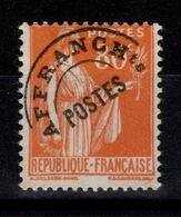 Preoblitere Paix YV 75 N* Cote 80 Euros - Préoblitérés