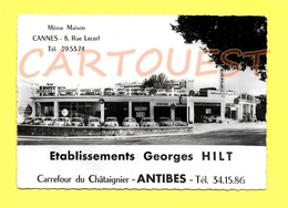 CPSM 06 ANTIBES Concession Automobile Renault - Georges HILT Carrefour Du Châtaignier - (1956 à 1967 Dauphine, 4CV) - Antibes