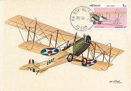 D34943 CARTE MAXIMUM CARD RR 1987 VIETNAM - AIRPLANE PIONEER CURTISS JENNY JN4 CP ORIGINAL - Airplanes
