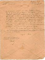 VP12.928 - MILITARIA - LE MANS 1918 - Copie D'une Lettre Du Docteur POIX & Historique De La Maladie De Mr Paul DATTIN - Documents