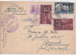 Postkarte Mit Mischfrankatur  Gel. 1948   - AK-13952 - 1948-.... Republiken