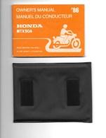 HONDA  MTX 50 A . Manuel Du Conducteur( 82 Pages ) Dans Une Pochette Plastique Et Autocolant - Motos