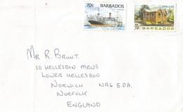 Barbados 1997 Bridgetown Steamship Chattel House Cover - Barbados (1966-...)