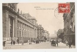 Genève, Rue Du Mont Blanc Et Mont Blanc (A4p76) - GE Ginevra