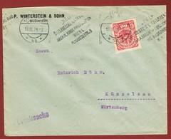 Infla Ab 1. Aug 1921 Drucksache Perfin (Betrug?) Werbestempel Helft Öst Kinder... - 1918-1945 1ère République