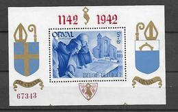 Belgien  1942 Orval Souvenier Sheet  Postfrisch - Blocks & Kleinbögen 1924-1960