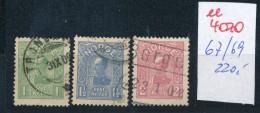 Norge Nr. 67 -69  O     (ee4070  ) Aus Auflösung Einer Spezial Sammlung - Gebraucht