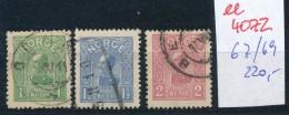 Norge Nr. 67 -69  O     (ee4072  ) Aus Auflösung Einer Spezial Sammlung - Gebraucht