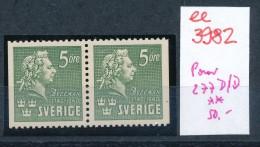 Schweden  Nr. 277 D/D   **    (ee3982  ) Aus Auflösung Einer Spezial Sammlung - Svezia