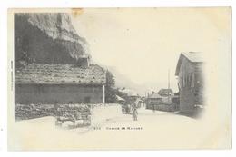 Cpa: 74 MAGLAND (ar. Bonneville) Le Village (animé, Précurseur) N° 318  (rare) - Magland