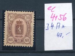 Finnland   Nr  34 A *   (ee4156  ) Aus Einer Spezial Sammlung ! - 1856-1917 Administration Russe