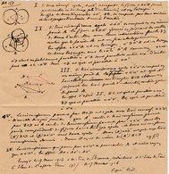 VP12.931 - MILITARIA - VITRY 1916 ? - Mr E. DATTIN Du Génie Militaire - Problème - Documents