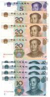 China 8 Notes Lot, 105.00 Yuan, XF-UNC. - China