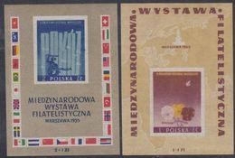 Pologne BF N° 16 / 17 XX Exposition Philatélique Internationale De Varsovie Les 2 Blocs Non Dentelés, Sans Charnière, TB - Blocs & Feuillets