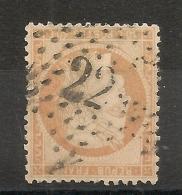 ETOILE 22 De PARIS Sur 40C Siège. Chiffres 2 Différents. EPAIS Et FIN. - 1870 Siege Of Paris