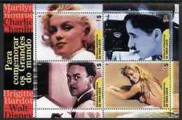 57317 Timor 2004 Film Stars (cinema Women Monroe Disney Music Comedy Chaplin Bardot) Perf Sheetlet U/m - Timor Oriental