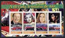 57329 Timor 2004 Film Stars (cinema Women Monroe Disney Music Elvis Cars Bardot) Imperf Sheetlet U/m - Timor Oriental