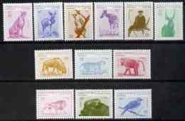 37996 Somalia 1998 Animals Perf Defin Set (reptiles Snakes Lion Cats Apes Birds Animals) 12 Val U/m - Somalia (1960-...)