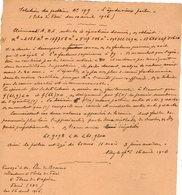 VP12.933 - MILITARIA - VITRY 1916 - Mr E. DATTIN Du Génie Militaire - Solution Du Problème - L'âge Du Vieux Poilu - Documents