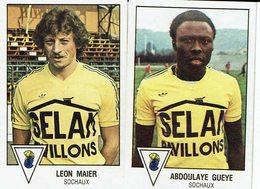 2 Et. Panini - FOOT BALL 79 - SOCHAUX - Léon MAIER Et Abdoulaye GUEYE - Trading Cards
