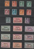 France Memel 1922 Overprint US. 45/64 - Memel (1920-1924)