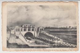 B 147  /    ANCIEN  PARIS     /  Chemin De Fer De Versailles  ( Rive Droite ) L'embarcadère De La Place De L'Europe 1843 - France