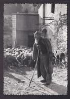 CPSM 13 - LES BAUX-DE-PROVENCE - Vieux Berger Des Baux - SUPERBE PLAN PROVENCE Troupeau Moutons TB Photo AUGIER - Les-Baux-de-Provence