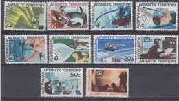AAT 1966 Definitives 10v ** Mnh (40419) - Australisch Antarctisch Territorium (AAT)