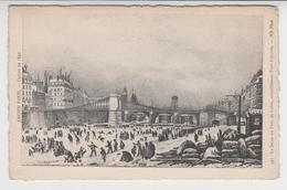 B 152  /    ANCIEN  PARIS     /   La  Seine Au Pont  De Grève , Actuellement Pont D'Arcole  ( Hiver 1830 ) - France