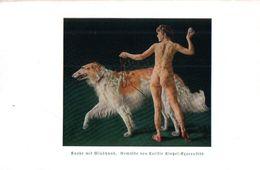 Knabe Mit Windhund (nach Einem Gemälde Von Cecilie Kintzel)  / Druck, Entnommen Aus Zeitschrift / 1934 - Livres, BD, Revues