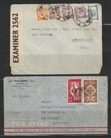 Portugal 1940s Three Clipper Covers To The USA - Poste Aérienne