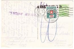 1919 Späte Zensurierte AK Aus Liege Nach Lausanne Mit Schweizer Strafportomarke; - Weltkrieg 1914-18