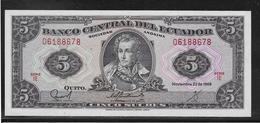Equateur - 5 Sucres - Pick N°120A - SPL - Equateur
