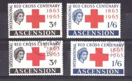 Croix-Rouge - Ascension - 1963 - N° 91 Et 92 - Neufs * Et Oblitérés - 100 Ans Croix-Rouge - Croix-Rouge