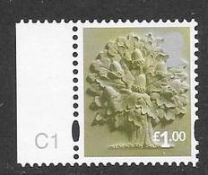 "GB  - 2015  £1 Value ENGLAND  ""Oak Tree""  With CARTOR  C1 Cylinder - Regionalmarken"