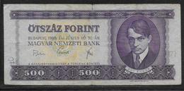 Hongrie - 500 Forint - Pick N°172a - TB - Hongrie