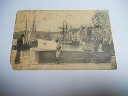 50 MANCHE CARTE ANCIENNE EN N/BL DE 1906 CHERBOURG LE BASSIN DU COMMERCE N°50 EDIT A D - Cherbourg