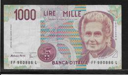 Italie - 1000 Lire - Pick N°114c - TB - 1000 Lire