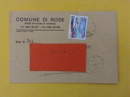 COMUNI D'ITALIA BUSTA DEL 2001 COMUNE DI ROSE CON CAPITANERIE DI PORTO ISOLATO - 6. 1946-.. Repubblica