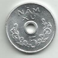 Vietnam 5 XU 1975. High Grade - Viêt-Nam