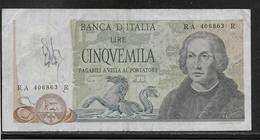Italie - 5000 Lire - Pick N°102 - TB - 5000 Lire
