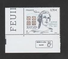 FRANCE / 2016 / Y&T N° 5036 ** : Sophie Germain CdF FSC - Gomme D'origine Intacte - France