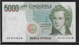 Italie - 5000 Lire - Pick N°111c - SUP - [ 2] 1946-… : République