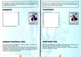 SAN MARINO  2006 - 2 Pages Philatelic Bulletin N°56 October 2006 - Mother Theresa - Teresa - - Mère Teresa