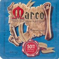 ETIQUETTE FROMAGE -  CARRE DE L'EST -  MARCO -  Fab En Lorraine - MEUSE 55-Q - Käse