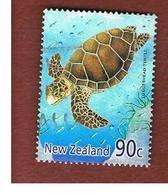 NUOVA ZELANDA (NEW ZEALAND) - SG 2388  -  2001  YEAR OF THE SNAKE: MARINE REPTILES (LOGGERHEAD TURTLE)       -  USED° - New Zealand