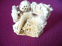 Elfenbein-Schnitzerei - Drachen (546) - Asiatische Kunst