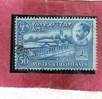 ETHIOPIA ETIOPIA ETHIOPIE 1947 1962 SPECIAL DELIVERY STAMPS ADDIS ABABA ABEBA POST OFFICE CENT 50c USATO USED OBLITERE' - Ethiopie